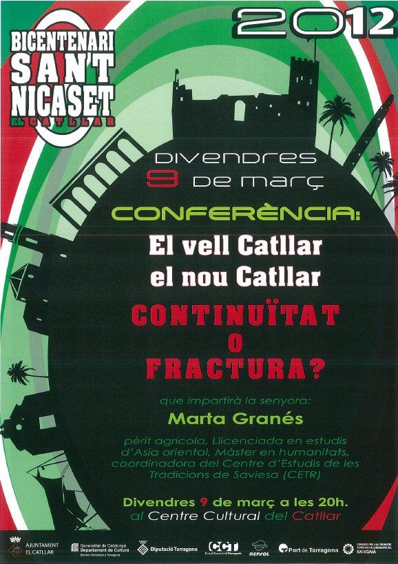 """CONFERÈNCIA """"EL VELL CATLLAR, EL NOU CATLLAR"""""""