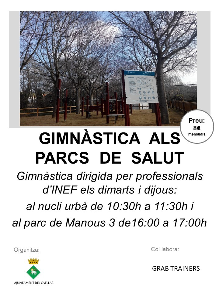 GIMNÀSTICA ALS PARCS DE SALUT DE LA GENT GRAN AL CATLLAR