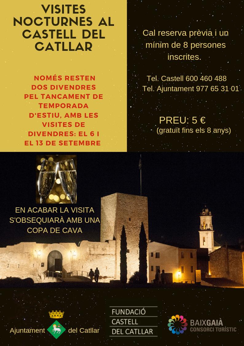 Visites nocturnes al Castell. Fi de temporada