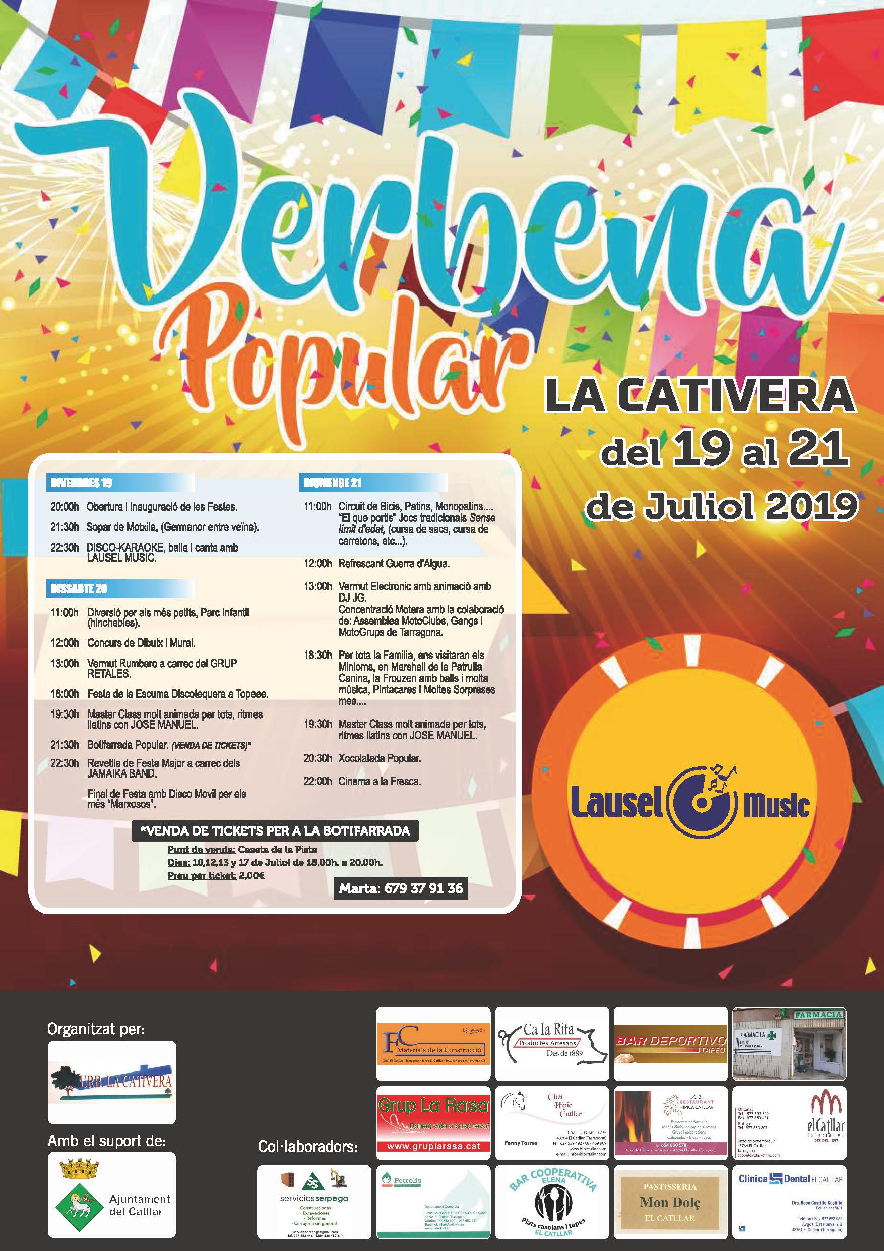 FESTES URBANITZACIÓ LA CATIVERA