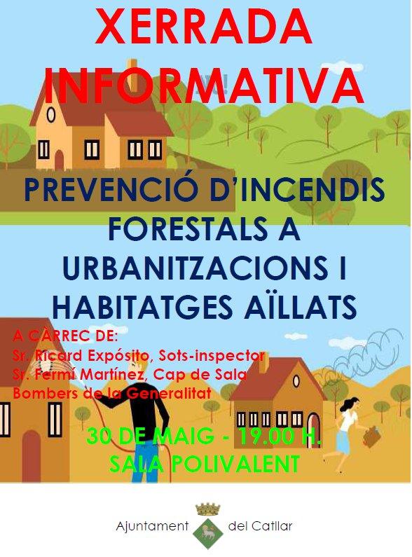 Xerrada informativa sobre la prevenció d'incendis forestals.