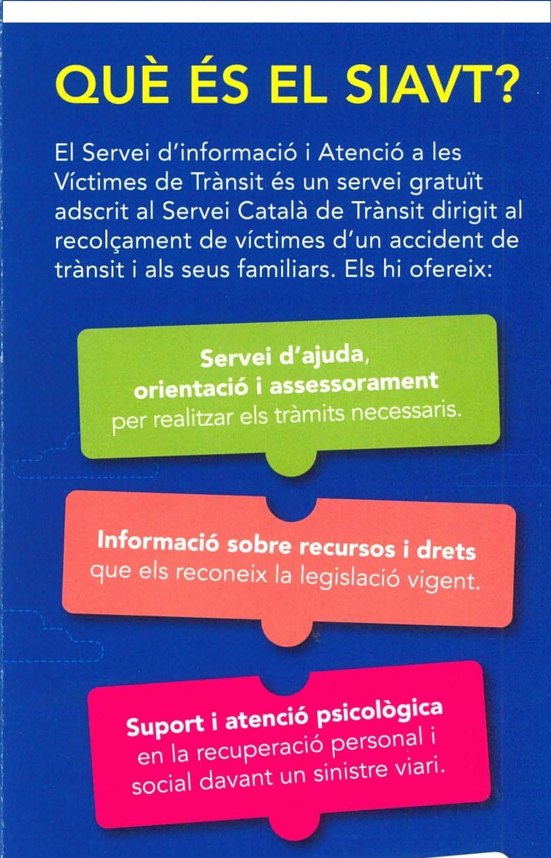 SERVICIO DE INFORMACIÓN Y ATENCIÓN A LAS VÍCTIMAS DE TRÁNSITO