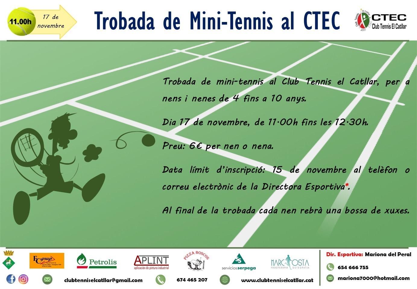 Club de tennis el Catllar - Trobada de mini tennis -